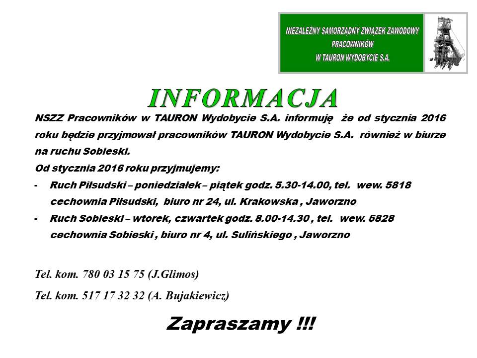 informacja o biuro