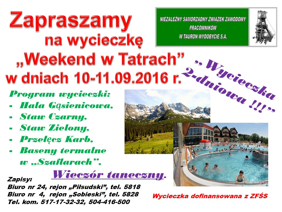 Weekend w Tatrach 2016